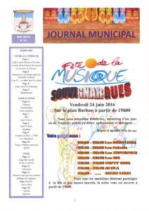 Bulletin municipal mai 2016