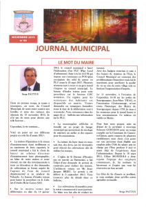 Bulletin municipal novembre 2015